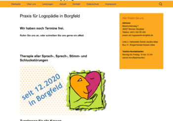 Logopädie Borgfeld Internetauftritt