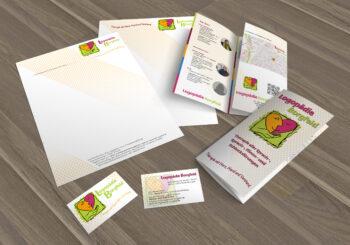 Briefpapier Visitenkarte Wickelfalzflyer