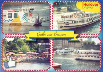 Postkarte im Retro-Stil