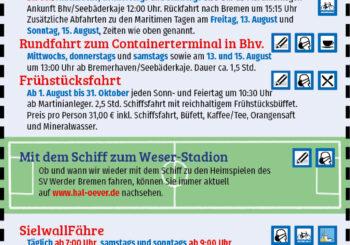 Anzeige Schiffsfahrt Bremen